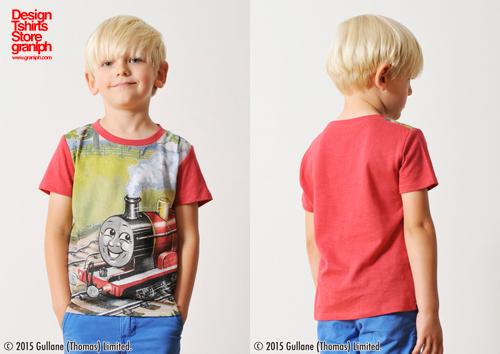 (90cm)きかんしゃトーマスTシャツ(ジェームス レッド)