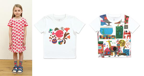 「きんぎょがにげた」がこんなにキュートなTシャツに!!|五味太郎× グラニフ(1)