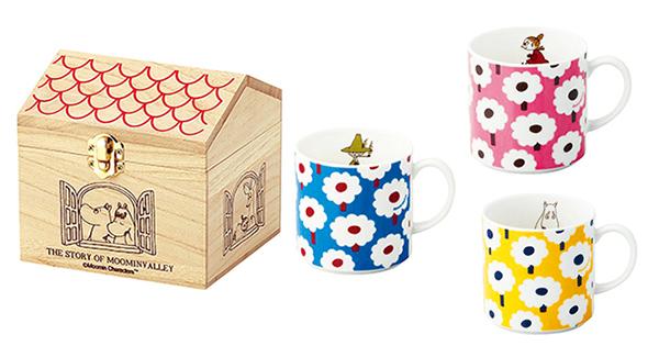 誰かに贈りたくなっちゃう!!家の形の木箱に入ったムーミンのマグカップ