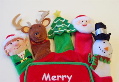 指人形絵本メリークリスマス(Merry Christmas Hand Puppet Board Bo