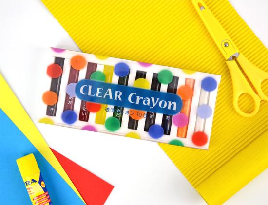 透明クレヨン 10色