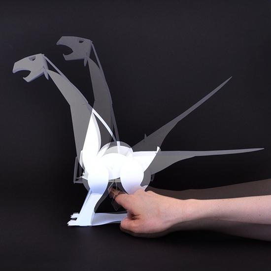 恐竜ペーパークラフト アパトサウルス
