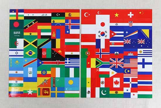 世界の国旗と地図 マグネットブック