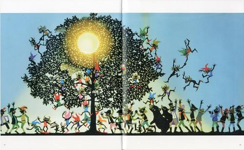 藤城清治 影絵の絵本 グリム