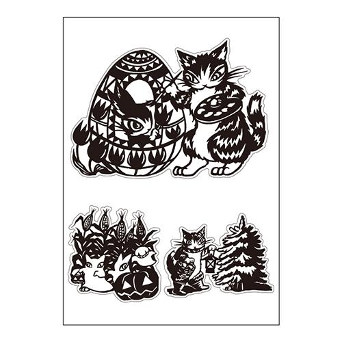 猫のダヤン大人可愛いウォールシールBOOK