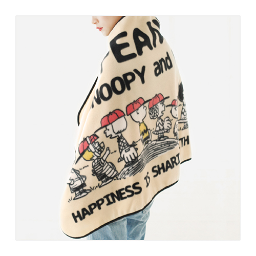 SNOOPY PEANUTS fleece cape BOO