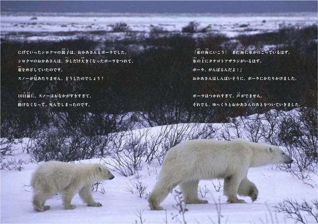 えんとつと北極のシロクマ