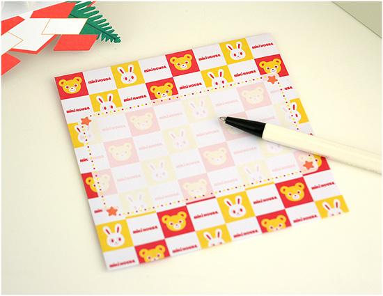 お正月カード 立てて飾れるかがみ餅カード