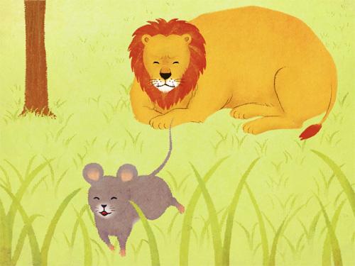 (デジタル)ライオンとねずみ