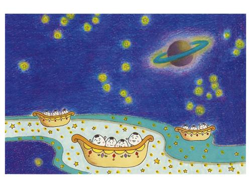 (デジタル)コジコジ・おにぎり星人と星まつり