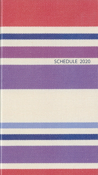 シンプル手帳 プラネテ 緋色(ひいろ) 2020年1月始まり