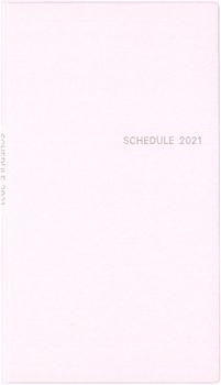 シンプル手帳 パールピンク 2021年1月始まり