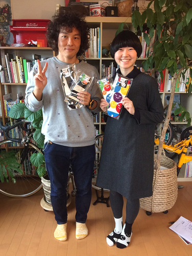 【新井洋行さん サイン本】カラフル&親子ソックス2足セット商品画像
