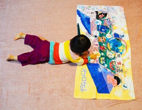 【絵本ナビ限定】あそべる絵本マルチタオルno.3 ザ・キャビンカンパニー『オフロケット』商品画像