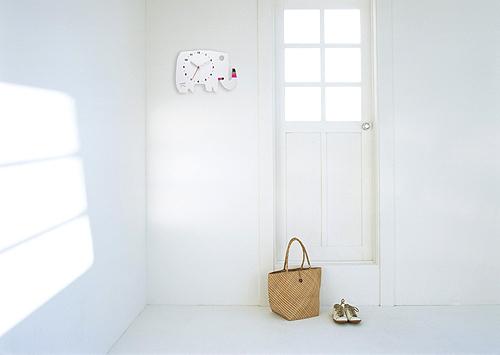 五味太郎 オリジナル時計  「白いゾウ」商品画像