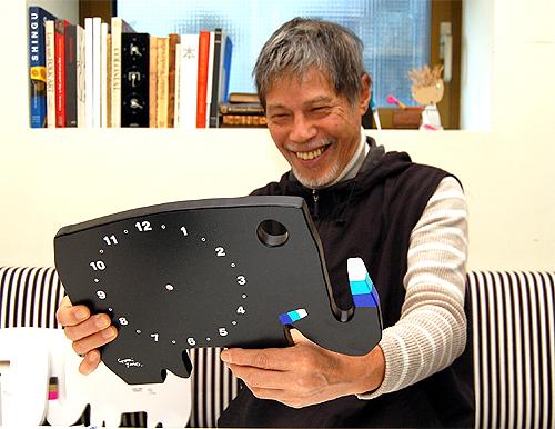 五味太郎 オリジナル時計  「黒いゾウ」商品画像