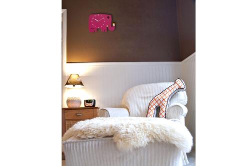 【直筆サイン入り】五味太郎 オリジナル時計  「ローズピンクのゾウ」商品画像