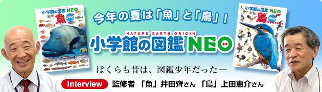 「小学館の図鑑NEO」新刊「鳥」「魚」監修者インタビュー
